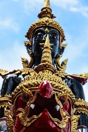 Statue angle in Thai Royal Crematorium