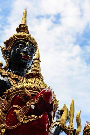 crematorium: Statue angle in Thai Royal Crematorium