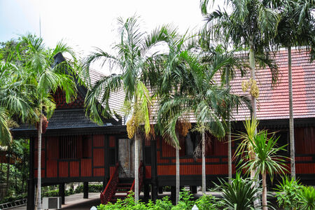 Thai style house in the museum of art in Chiang rai,Thailand Editorial