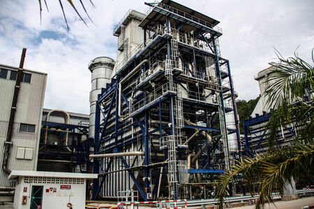 Natural gas fired turbine power plant with it