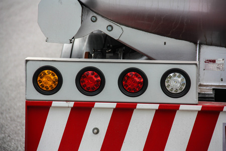 rear end of red firetruck on the street