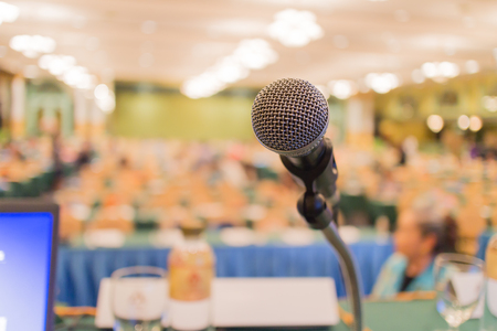 congress center: microphone in a meeting room