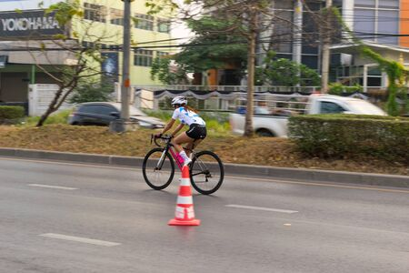 hosted: Central Nonthaburi, Thailand has hosted the cyclists along the Kings Cup. There are many people who attended the event.