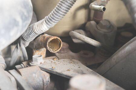 dirty car: Car repairing engine Car repair shop Engine parts