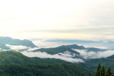 View nature mountain sky and fog phu tubberk thailand