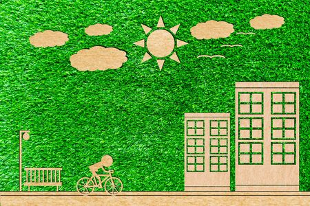 Bike to work replaces clean energy cars of paper cut