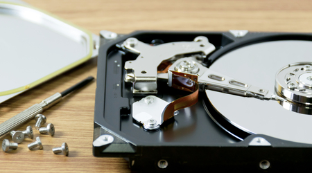 Hard disk repair computer data recovery and screwdriver