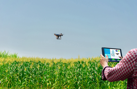 Farmer control unmanned aircraft Dorn Corn agricultural automation,digital farming