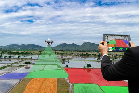 Aviones no tripulados de control de agricultores Dorn automatización agrícola por infrarrojos, agricultura digital