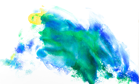 Frame watercolor art hand paint abstract and background or wallpaper Banco de Imagens