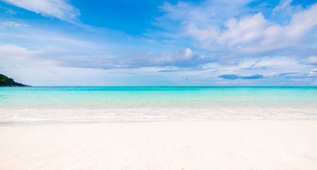 Sea and clear water beach have a holiday summer relaxing and travel bright sky koh lipe thailand Banco de Imagens - 124531709