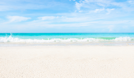 Sea and clear water beach have a holiday summer relaxing and travel bright sky koh lipe thailand Banco de Imagens - 124532468