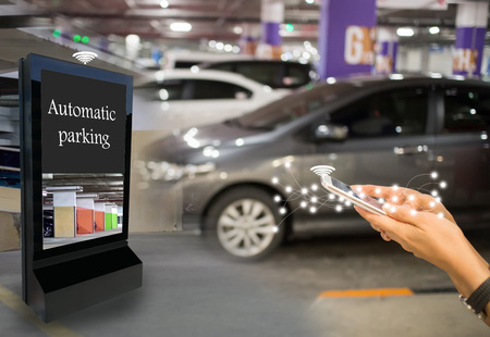 Technology automatic search parking car intelligent department store
