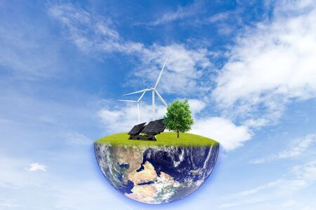 Clean energy on earth concept