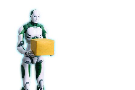 Intelligent robot technology holds box works instead of humans