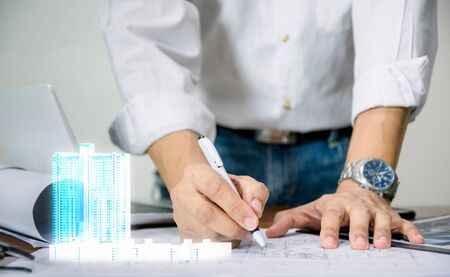 Engineer for the design of the sheet plan display technology building model