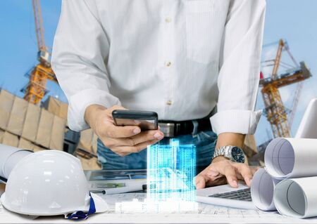 Engineer industry for the design of the sheet plan display technology building model