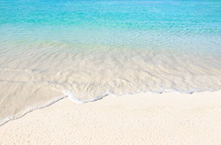 Sea and clear water beach have a holiday summer relaxing and travel bright sky Stock fotó