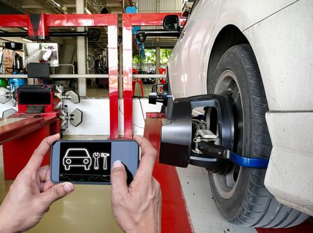 Technology for checking cars using a smartphone