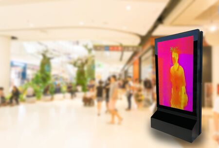 Scan body temperature meter in display screen Measure the fever
