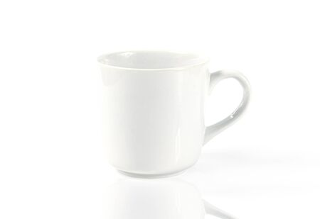 Coffee cup hot drink On a white background