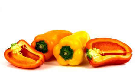 Colorful bell pepper on a white background Reklamní fotografie