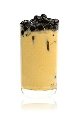 Pearl milk tea on a white background Reklamní fotografie