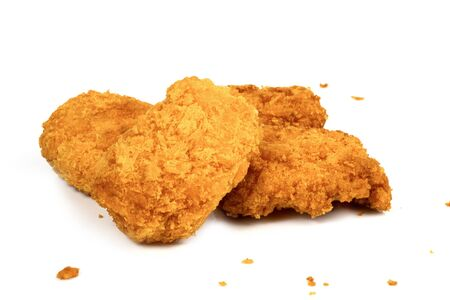 Fried Chicken Nuggets on a white background