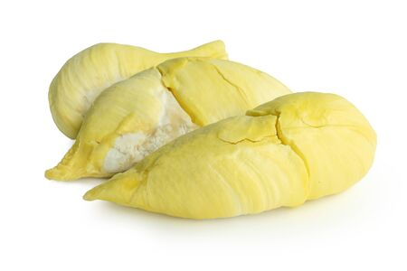Durian fruit on a white background