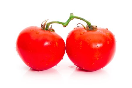 Tomato red color on a white background Reklamní fotografie - 147064385