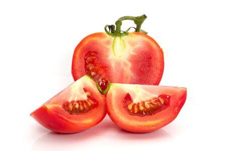 Tomato red color on a white background Reklamní fotografie