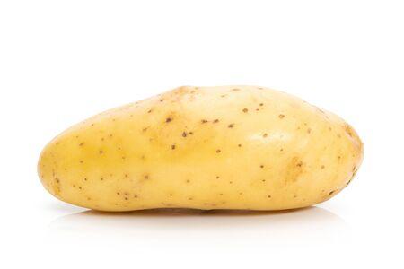 Potato raw on a white background