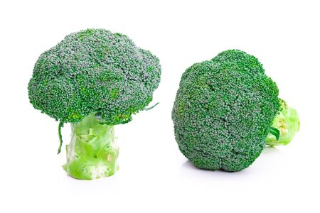 Broccoli vegetable on a white background