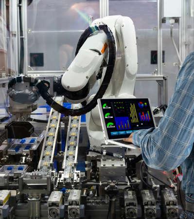 Engineering control of robotics in industrial plants Production technology Foto de archivo - 152306597