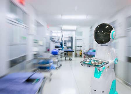 Send medical equipment robot technology in hospital Reklamní fotografie