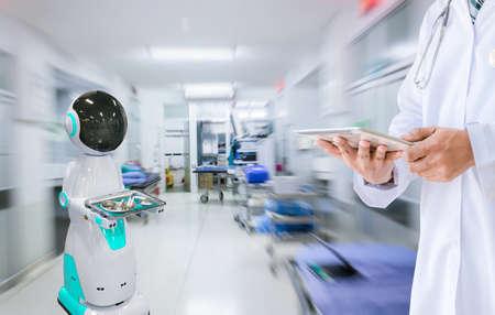 Send medical equipment robot technology in hospital