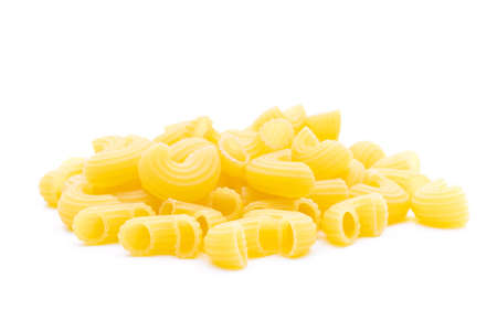 Raw macaroni on white background 스톡 콘텐츠 - 157276403
