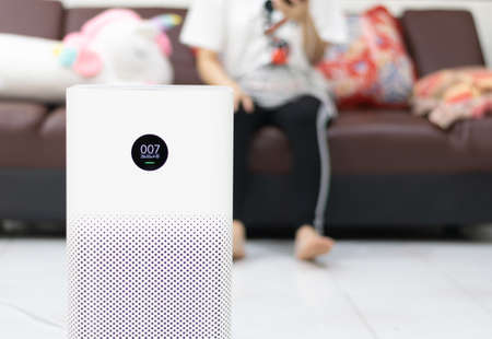 Pm2.5 air purifier in the living room