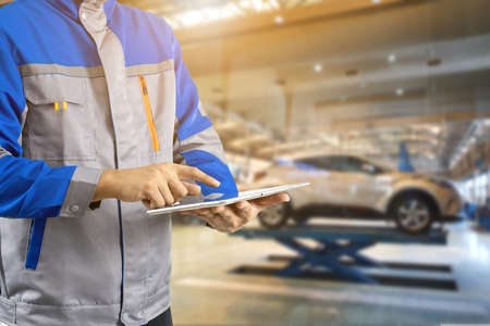 Technology auto repair in auto service centers