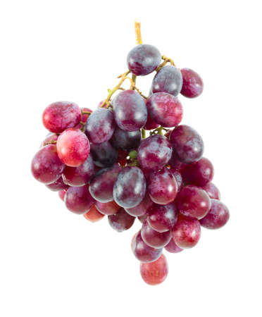 Red grape fruit on white background