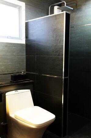 defecate: Bagno moderno in colore bianco e nero