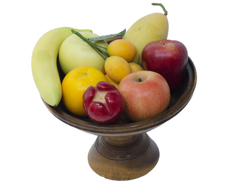 Varities of fruites on wooden tray photo