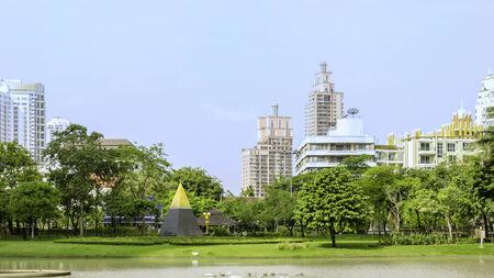 public park: Parque p�blico en Bangkok, Thialand Foto de archivo