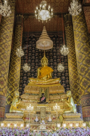generality: Buddha sculpture  that Taken at temple in Bangkok, Thailand  Generality in Thailand