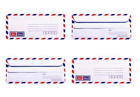 vintage envelope: Blanco y Envelope sencilla vendimia Foto de archivo