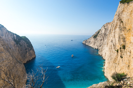 Sea landscape in Greece Stock Photo