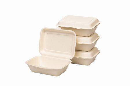 Envasado de alimentos a base de bagazo de pulpa de papel