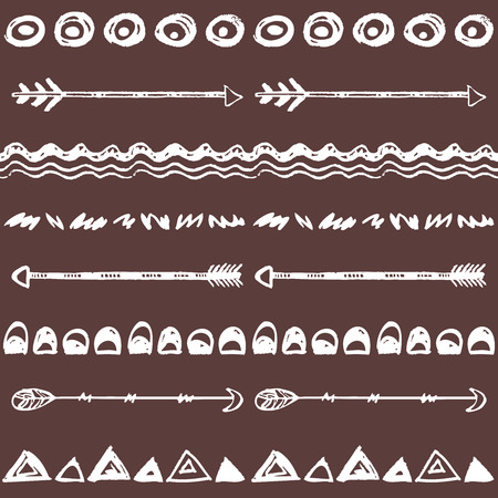Tribal hand drawn background, ethic doodle pattern. Geometric borders. Hand drawn abstract backdrop. Wallpaper for pattern fills, web page