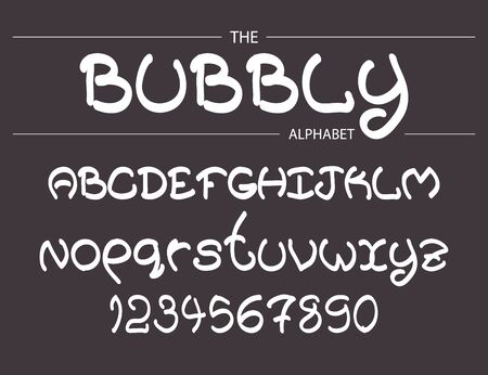 Vector modern bubbly abstract font and alphabet for your design