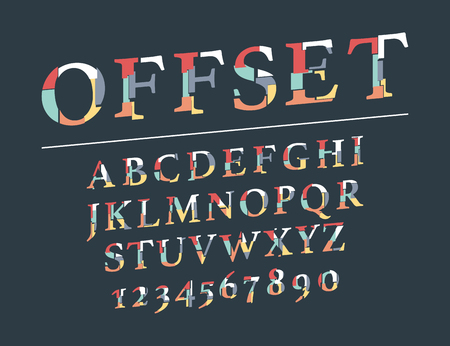 Modern line alphabet. Hipster abstract vector font. Archivio Fotografico